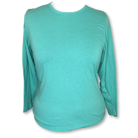 Sivvan Comfort Long Sleeve T-Shirt (8500) >> Sea Glass, 3X-Large
