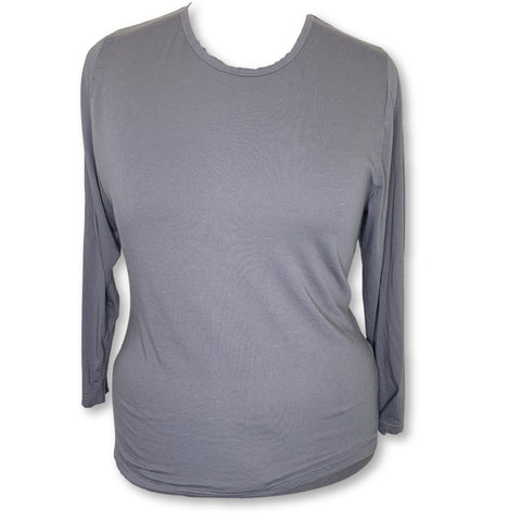 Sivvan Comfort Long Sleeve T-Shirt (8500) >> Charcoal, 3X-Large