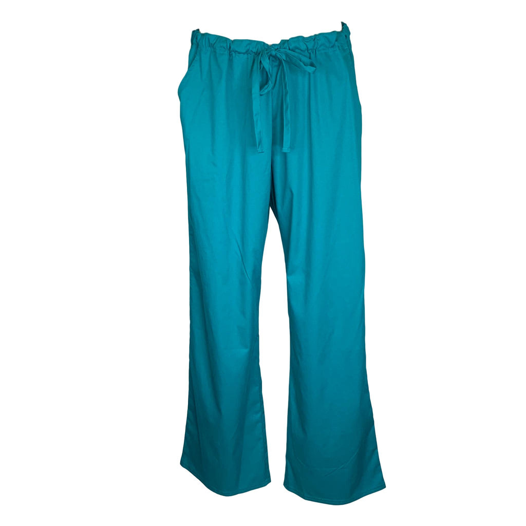 Cherokee Luxe Low Rise Drawstring Pant (1066) >> Teal, X-Large