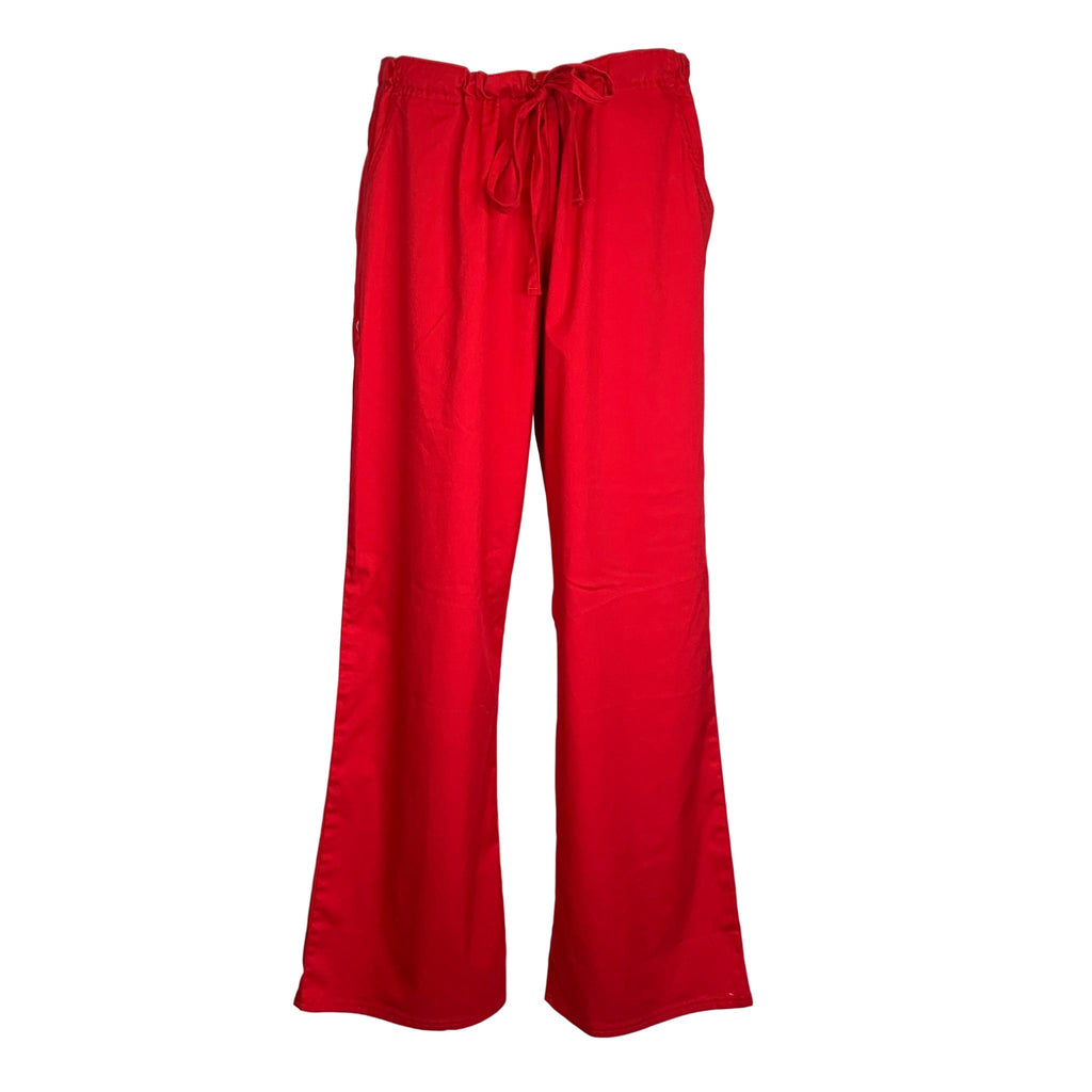 Cherokee Luxe Low Rise Drawstring Pant (1066) >> Red, X-Large