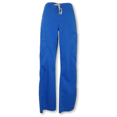 WonderWink Pro Moderate Flare Leg Cargo Pant (5319) >> Royal Blue, XX-Small