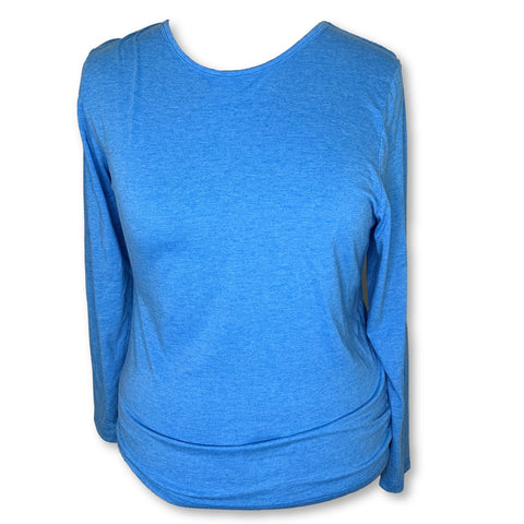 Adar Comfort Long Sleeve Underscrub T-Shirt (2900) >> Heather Pool Blue, 3X-Large