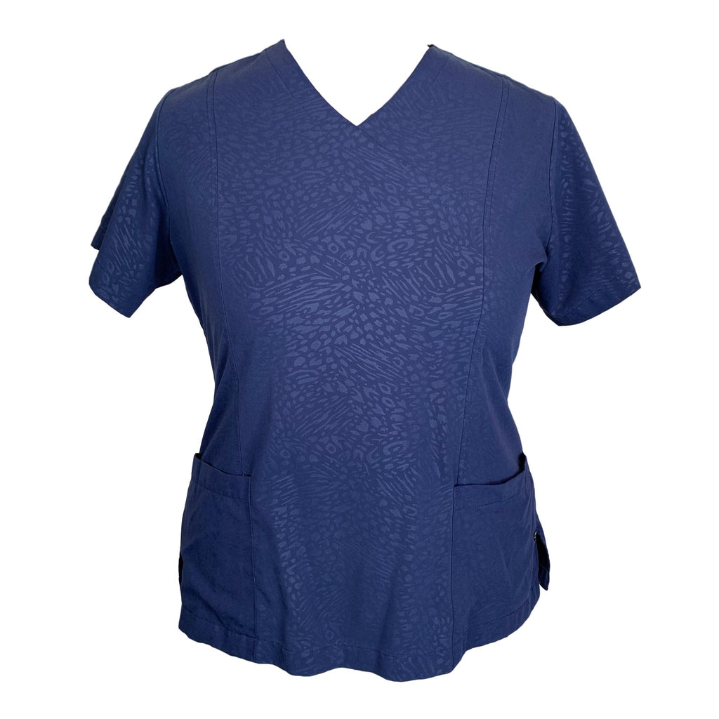 Jockey V-Neck Top (2335) >> Navy, 2X-Large
