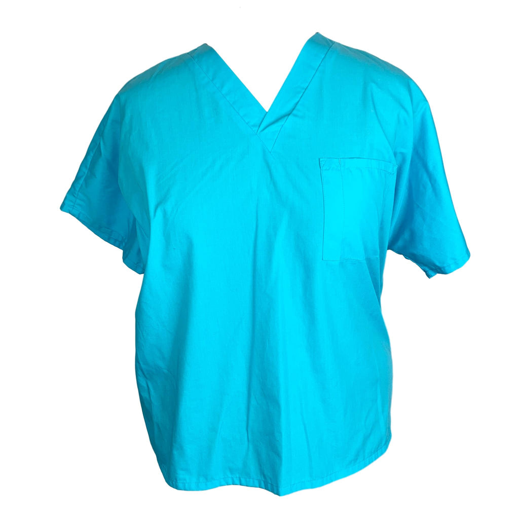 Cherokee Workwear Scrubs Unisex One Pocket Top (4777) >> Turquoise, X-Large