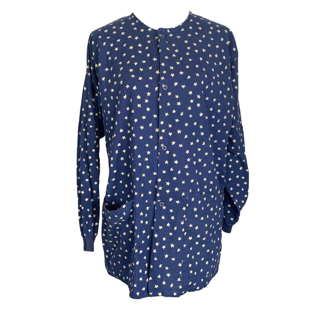 Cotton Scrubs & Co Star Print Jacket >> Patterned, Medium