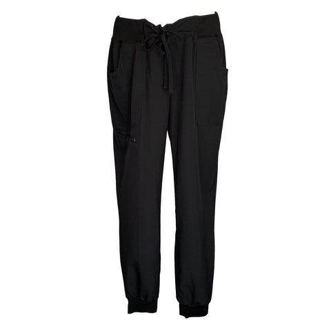 Break On Through by HeartSoul Jogger Low Rise Pant (030) >> Black, Large Tall