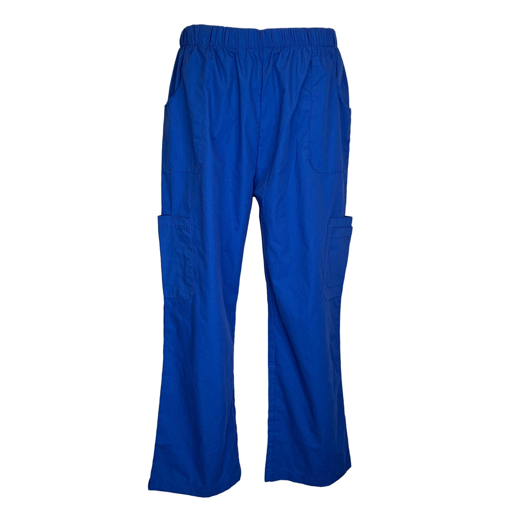 Fashion Seal Healthcare Elastic Waist Pant (12554) >> Royal Blue, Large Petite