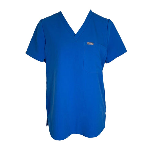FIGS V-Neck Chest Pocket Top (1000) >> Royal Blue, Medium