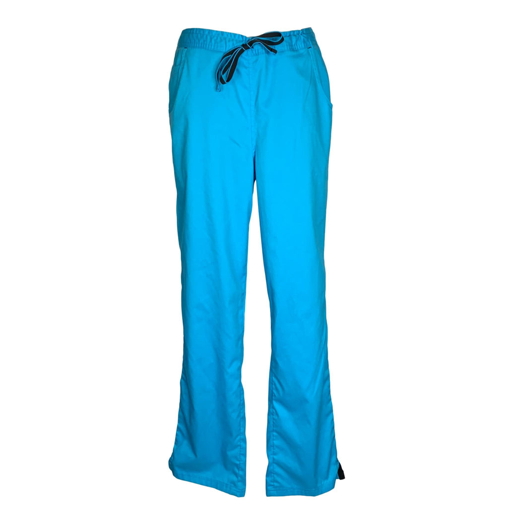 Happy Scrubs Drawstring Waist Footloose Pant (982) >> Turquoise Blue, Medium