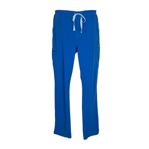 FIGS Drawstring Waist Cargo Pant (1227) >> Royal Blue, Large Tall