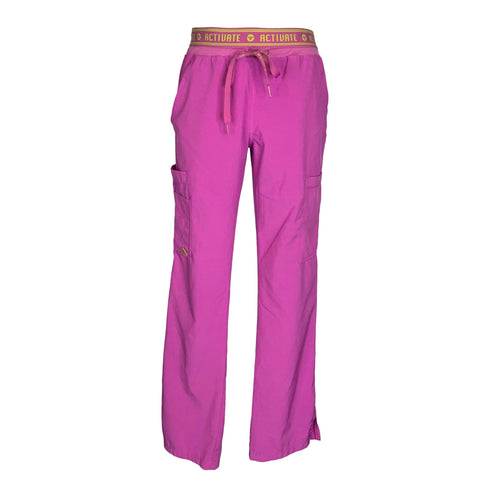 Activate by Med Couture Flow Cargo Pants (8758) >> Magenta, Small