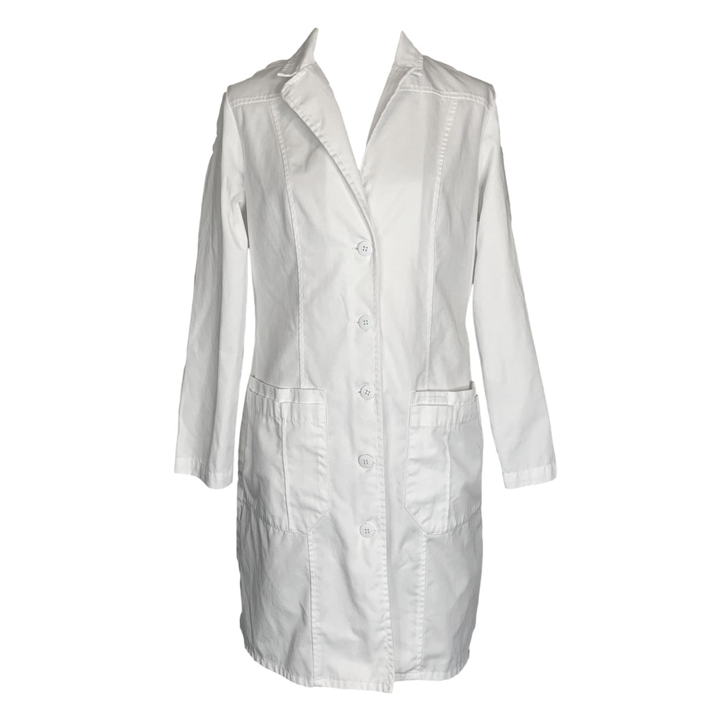 Cherokee Front Button Closure Lab Coat (2319) >> White, Small