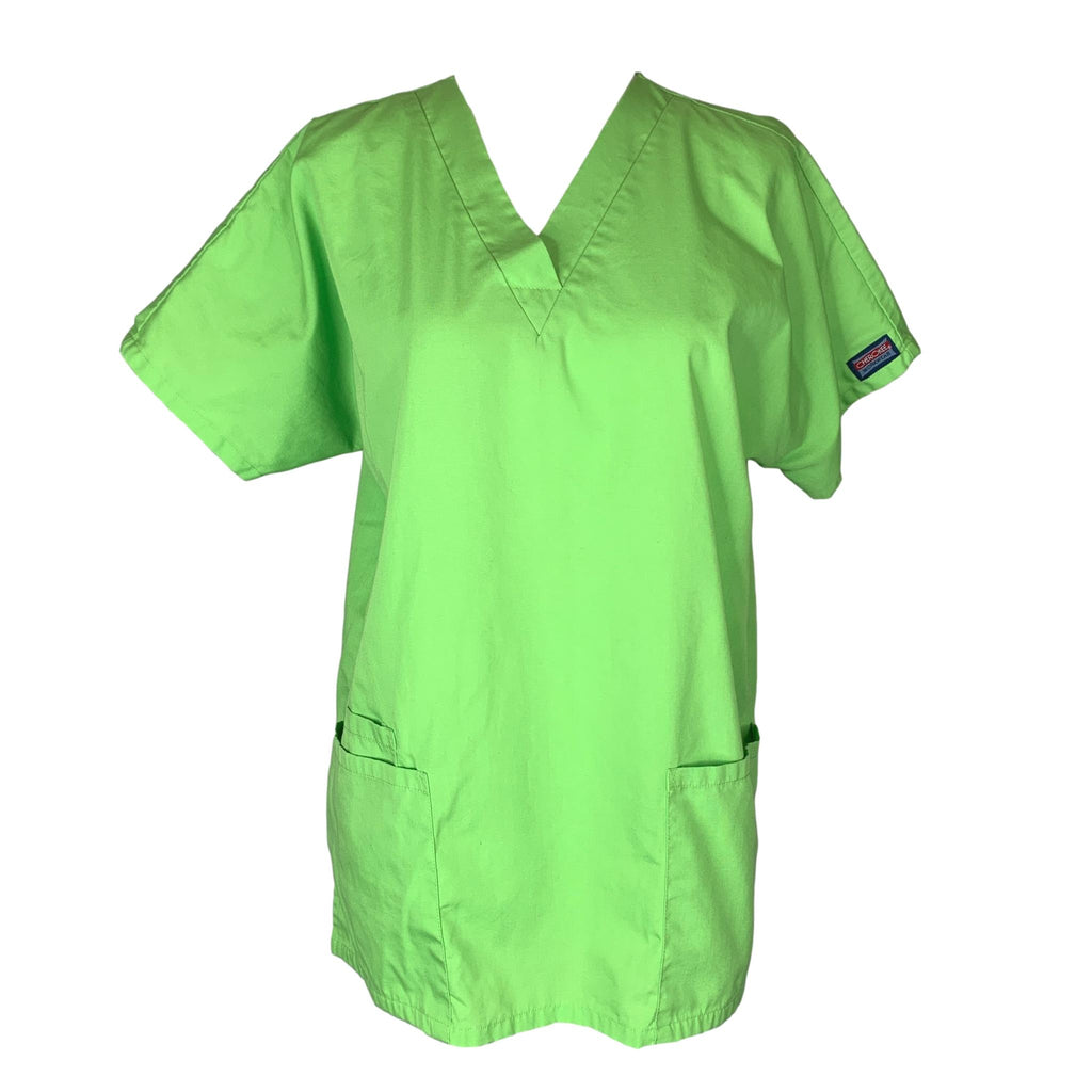 Cherokee Workwear Classic V-Neck (4700) >> Lime Green, X-Small