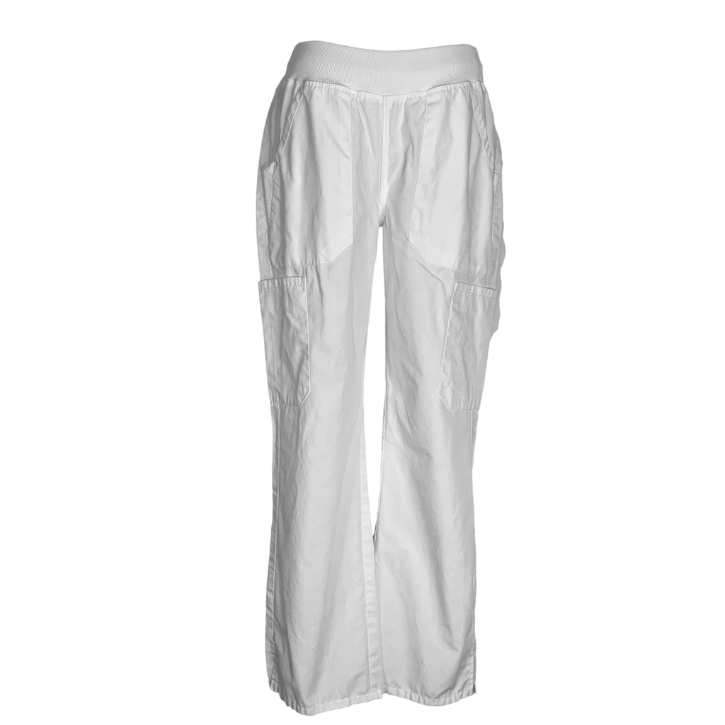 Cherokee Workwear Pull-On Cargo Pant (210) >> White, Small Petite