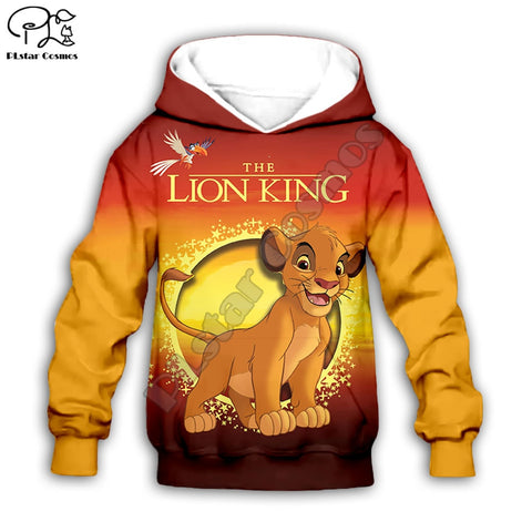 Simba Cartoon Hoodie and Pants