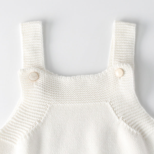 Knitted Woolen Baby Romper With Cardigan