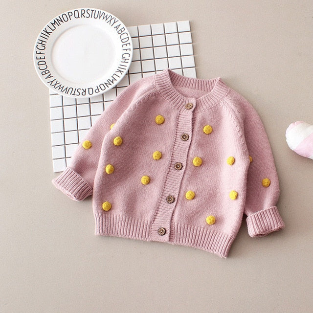 Baby Girl Pompom Sweater