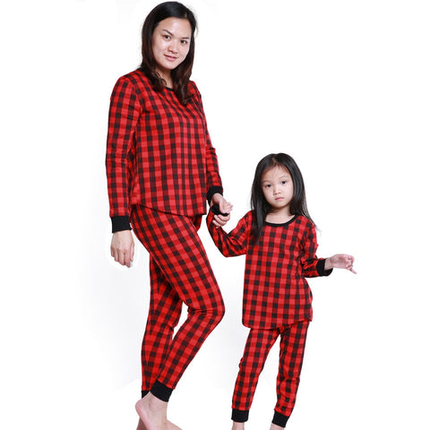 COSPOT 2019 Mom Baby Christmas Pajamas Set Mother Baby Kids Newborn Red Plaid Christmas Day Family Nightwear Sleepwear 2019 35E