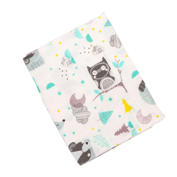 Animal Pattern Swaddle Blanket  120*110cm