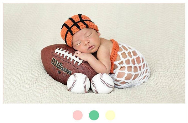 Basketball Crochet Costume -Newborn Photography Props