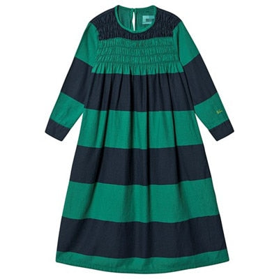 IN STOCK  BC KIDS 2019 NEW Autumn Toddler Girl Dress Beautiful Princess Party Stripe Christmas Dress Kids Dresses for Girls
