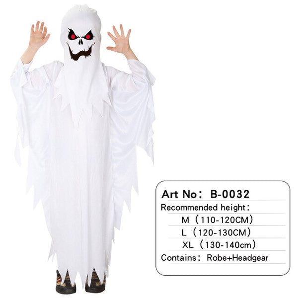 Halloween Children's Costume Ghost Set Adult Kids Performance Costume Elf Dress Up Boys and Girls Ghost Clothes