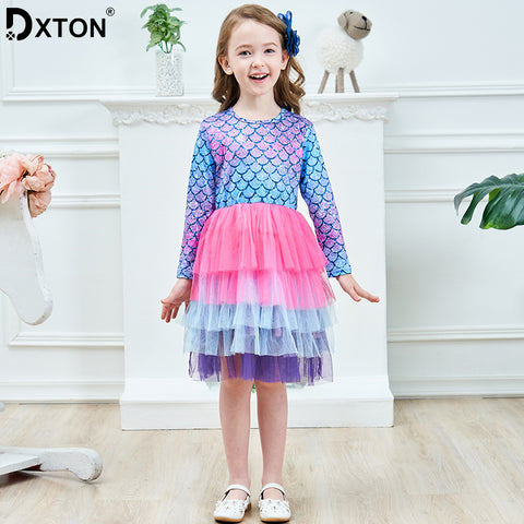Princess Kids Dress Winter Girls Party Dress Long Sleeve Baby Dress Children Clothes 2019 Christmas Girls Costumes LH4594