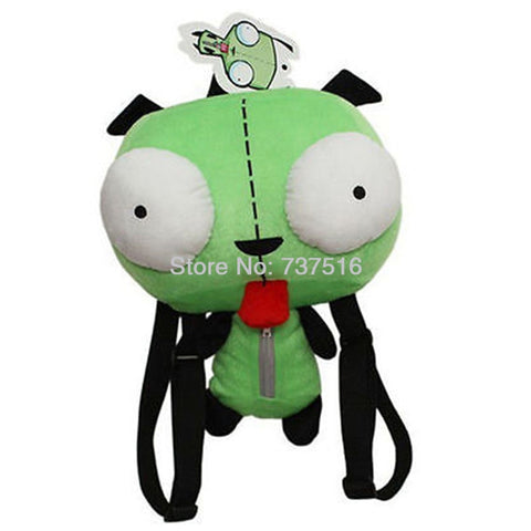 New Alien Invader Zim 3D Eyes Robot Gir Cute Stuffed Plush Backpack - 14 inches