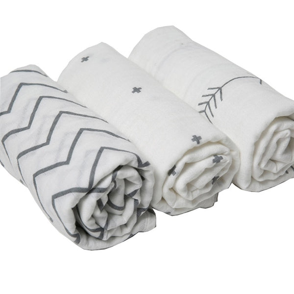 Multi Function Baby Swaddles (Set of 3- 120*120cm)