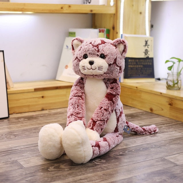 50/70/90CM Cute Fluffy Long leg Cat Doll