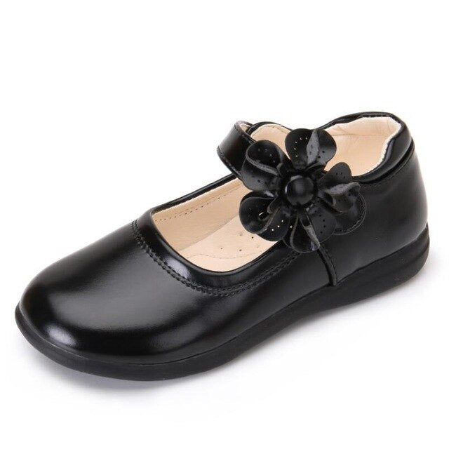 Girls Leather Shoes for Children Wedding Dress Princess School Shoes