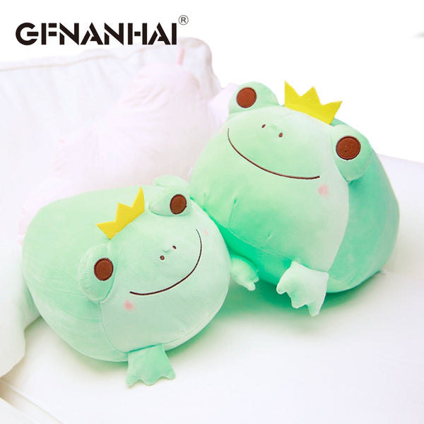 1pc 35cm The Crown Frog Plush Pillow Stuffed