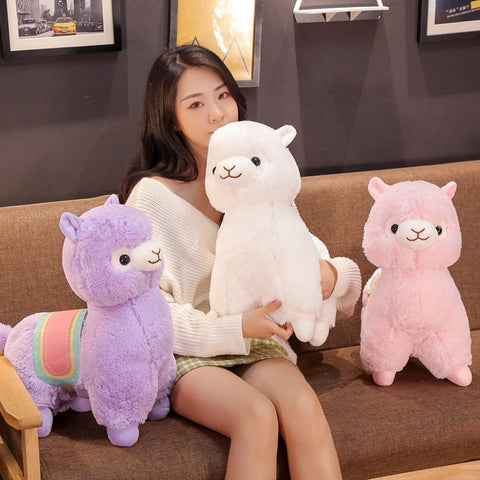 Soft Saddle Alpaca Plush Toy