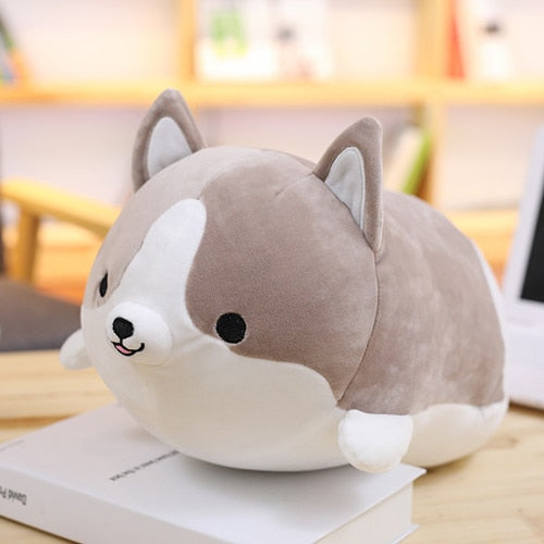 30/45/60cm Cute Corgi Dog Plush Toy Stuffed Soft Animal Cartoon Pillow