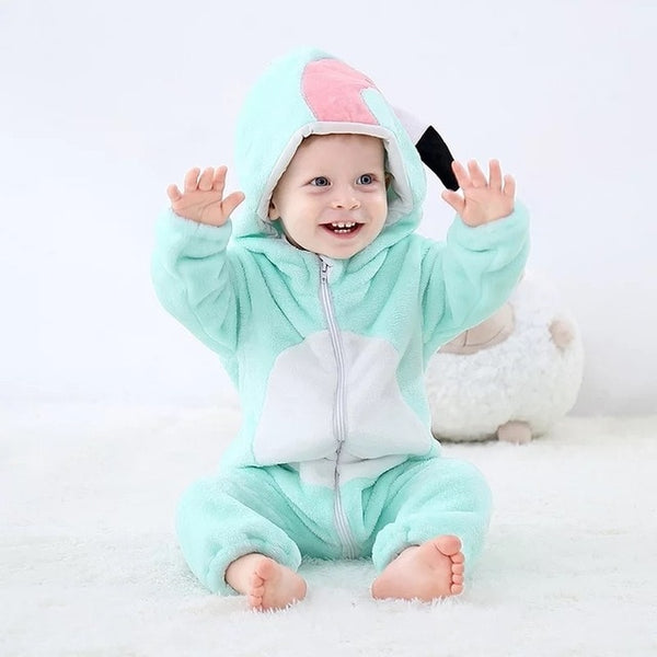 Newborns Baby clothing Romper Roupa bebê Jumpsuit baby animal clothes romper Cotton boy girl Winter costume Soft Flannel pajamas