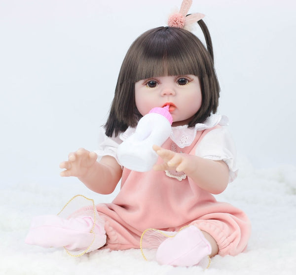 BEBE Doll Can Drink Milk & Pee -Simulation Toddler Doll with Accessories