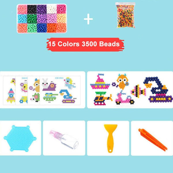 11400pcs Water Sticky Beads, String Aquabeads DIY
