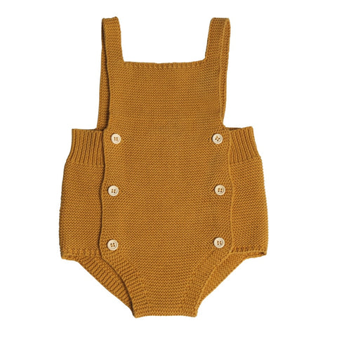 Cotton Knitted Overalls