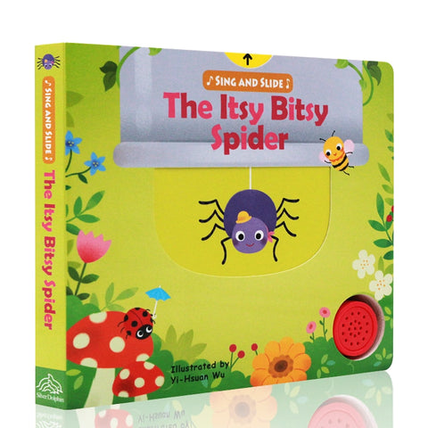 Sing and Slide The Itsy Bitsy Spider Institutional Operation Montessori Materials Classroom Picture Cardboard Books for Kids
