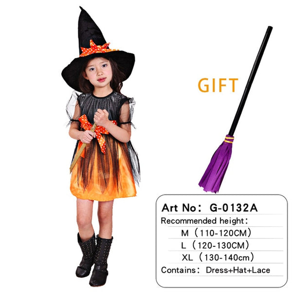 Fancy Fantasia Infant Witch Cosplay Costume Witch Bat clothes