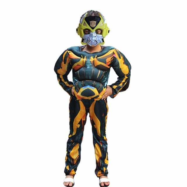 Kids Boys Cosplay  Muscle Optimus Prime, Bumblebee Superhero Body Suits for  Halloween Costumes Party