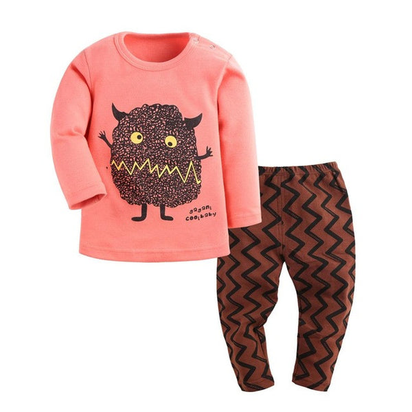Cartoon Long Sleeve Pajama Set