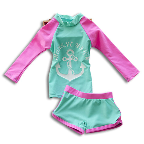 Girls Anchor Swimsuit
