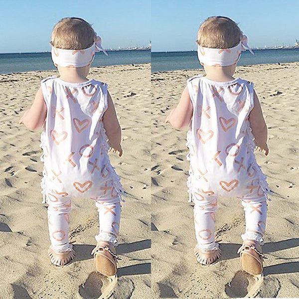Newborn Baby Girl XO Printed Cute Romper