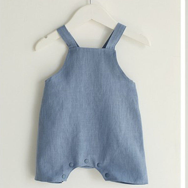 Newborn Baby Girls Boys Linen Rompers