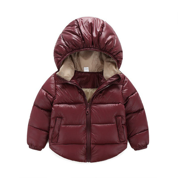 Baby Girls Boys Solid Design Hooded Coat - Cute Baby