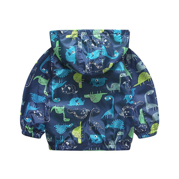 Baby Toddler Boys Cute Dinosaurs Trenchcoat