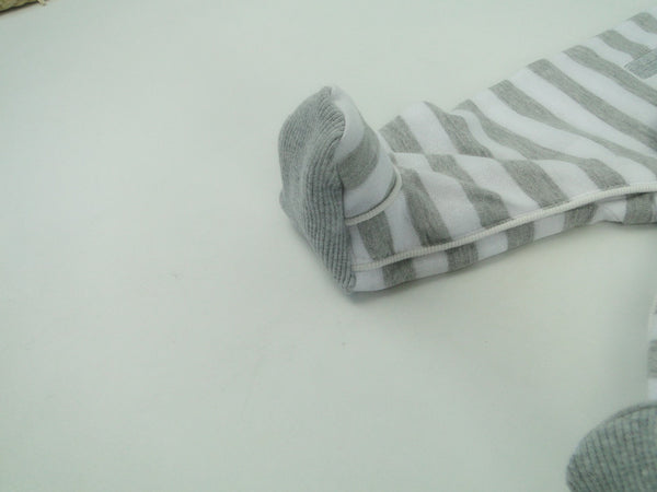 Newborn Baby Boy Striped Chic Footies