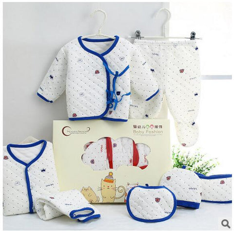 Newborn Baby Girl Boy 7 Pieces Keep  Warm Lovely Infant Clothing Set