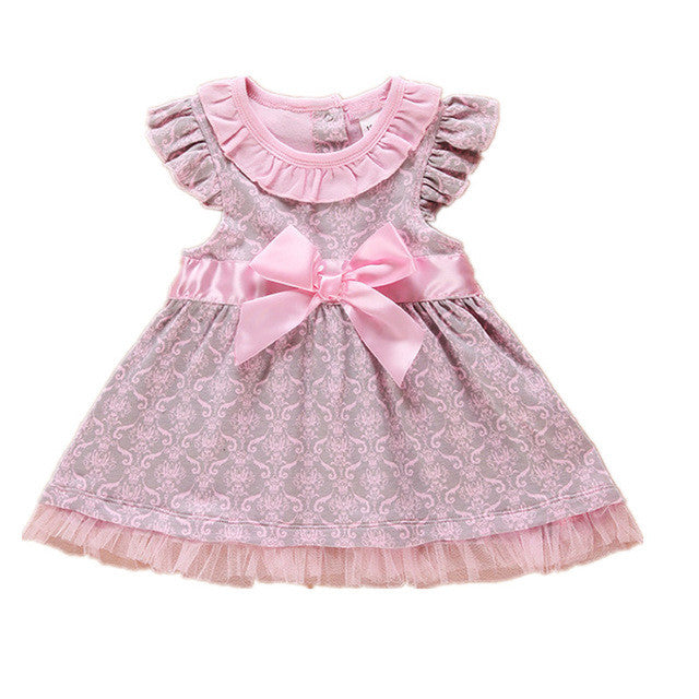 Baby Girls Bow Knot Tutu Princess Dress - Cute Baby